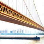 China Builds World's Largest Double-Deck Suspension Bridge (Photos)