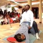"Ugandan Pastor Uses Female Member For Practical As He Teaches Church Members ""Sex"" (Video)"