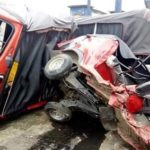 PHOTOS: Three Killed, Two Critically Injured As Truck Loses Control, Rams Into Filling Station In Akwa Ibom