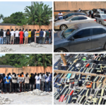 PHOTOS: Mass Harvest As EFCC Arrests 94 Suspected Internet Fraudsters In Osogbo