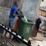 LASEPA Waste Bucket Used To Store Water In Oshodi (Photos)