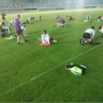 The Squirrels Of Benin Training Ahead Of Today's Game With Super Eagles (photos)