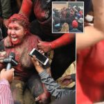 Protesters Cut Patricia Arce Bolivian Mayor's Hair, Cover Her In Paint, Drag Her (photos)