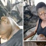 Mad Woman Gives Birth In Bayelsa State, Father Of Child Still Unknown (photos)