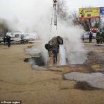 2 Men Boiled Alive After Their Car Got Swallowed By Hot Sinkhole In The Middle Of Road (Photos)