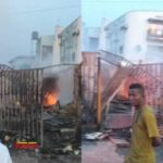 See photos from the scene of Iju Ishaga fire incident that consumed shops in Lagos (photos)