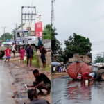 Residents Scoop Diesel From A Fallen Tanker In Imo (Photos)