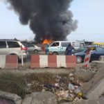 BREAKING: Kara Market Along Lagos/Ibadan Expressway On Fire