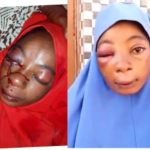 PHOTOS: Police Officer Beats His Wife Mercilessly Over N500 In Kaduna