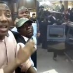Heavily-armed DSS Operatives Chase Falana, Rearrest Omoyele Sowore (Photo+Video)