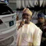 Sen. Yayi Gifts Actor, Taiwo Hassan a.k.a 'Ogogo' A Toyota Venza SUV For His 60th Birthday (video & photos)