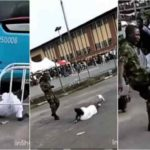 VIDEO & PHOTOS: Soldier Assaults Boy For Wearing Camoflage Trouser To An Event In Lagos