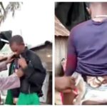 VIDEO & PHOTOS: Customs Officers Nab Smuggler With Portions Of Rice Strapped To His Body