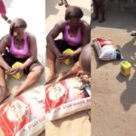 Woman Jumps Fence To Steal A Bag Of Rice, Gets Caught (Photos)