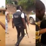 Drama As Angry Residents Resist Policemen From Carrying Out Arrest In Benin (Video)