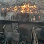 Many slump as fire guts popular Lagos plank market (photos)