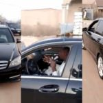 Nigerians react as video captures man selling herbs from a Mercedes Benz c300 (video)