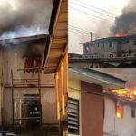 Two kids rescued as fire guts another Lagos building