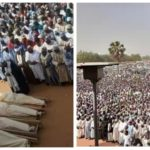 PHOTO: Mammoth Crowd Attend Funeral Of Emir Of Potiskum's Aides Killed By Gunmen