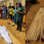 Remo star player, Kazeem Tiamiyu killed by SARS official buried amidst tears (photos)