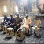 Elders Hold Service In Burnt Church Building After Boko Haram Attack (PHOTOS)