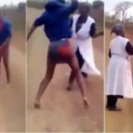 Lady Flogs Her Mother Mercilessly After Her Pastor Told Her That She's A Witch. (photos & video)