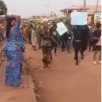 VIDEO: Protest over killing of footballer in Sagamu