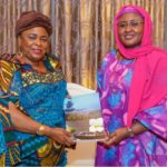 Aisha Buhari, Patience Jonathan Meet In Aso Rock (Photos)