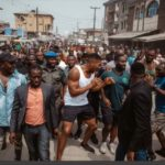 Anthony Joshua Takes His Belts To The Streets Of Makoko In Lagos (PHOTOS)