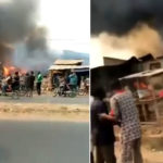 BREAKING: Fire Guts Houses, Shops Along Akala Express Road In Ibadan (Video)