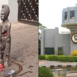 Fetish Objects Placed In Front Of University Of Ibadan Main Entrance Gate Scares Students And Workers