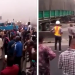 Lagos-Ibadan Expressway On Lock-Down, Footage Shows People Stranded