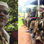 Soldiers Storm Nnamdi Kanu's Home, Block Entrance To His Residence