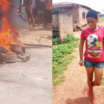 Angry Mob Sets Four On Fire Over Ritual Killing In Edo (PHOTOS)