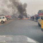VIDEO: Panic In Iyana Ipaja As Okada Riders And Police Clash Over Okada Ban