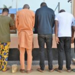EFCC Arrests Six 'Yahoo Boys' In Oluyole, Alao-Akala Estates With Mini Coffin, 4 Cars (PHOTOS)