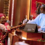 BREAKING: Buhari Swears In Yemi Esan As New Federal Head Of Service