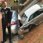 Nigerian Police Officer And His Mum Comes Out Unhurt After Their Car Sommersaulted 3 Times