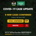 Eight New Coronavirus Cases Recorded In Nigeria
