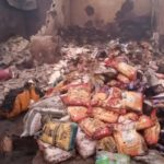 PHOTOS: Fire Razes 23 Shops In Kwara Market