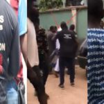 Residents Beat Up SARS Officers For Crushing Little Boy's Leg While Chasing Suspected Fraudster (VIDEO)