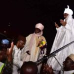 Emir Sanusi Lamido Arrives In Lagos In Luxurious Private Jet Paid For By Nasir El-Rufai (photos & video)