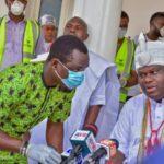 COVID-19: Ooni fumigates Ile-Ife, environs, moves to donate fumigators to 36 states (PHOTOS)