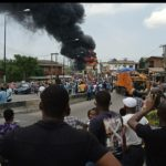 Fire Engulfs NNPC Station In Lagos (PHOTOS & VIDEO)