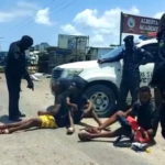 COVID-19: Police Disperse Angry Youths Protesting Over Lockdown In Lagos (PHOTOS)