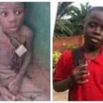 9-Year-Old Boy Chained And Abandoned In Ogun Is Unrecognizable Months After Governor's Wife Adopted Him (PHOTOS)