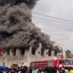 PHOTOS: Fire Razes Dugbe Market In Oyo