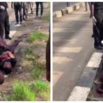 Video Of A Yet-To-Be Identified Man Bleeding To Death Under Idi-Iroko Bridge, Maryland Mall