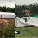 Rain Destroys Kogi COVID-19 Isolation Center In Lokoja (photos)