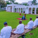 Buhari, Family Members Observe Eid Prayer Inside Aso Villa (PHOTOS)